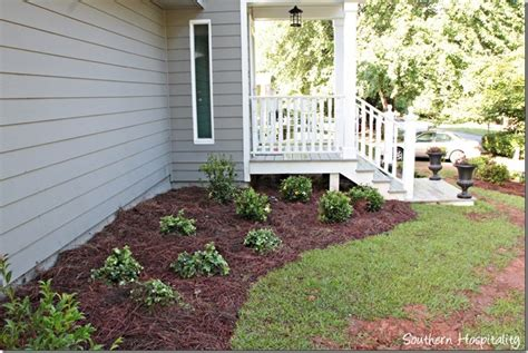 shrubs for front of house front yard before and afters southern hospitality