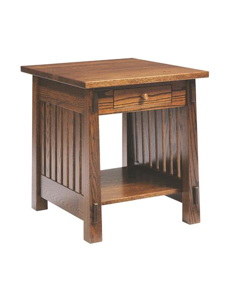 amish countryside mission end table