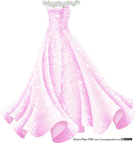 Paper Dolls With White Wedding Dresses by Sparkly Pink Gown With White Roses Liana S Paper Dolls
