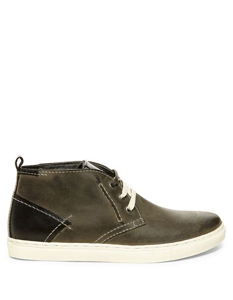 leather chukka sneaker steve madden leather chukka sneakers in gray for grey