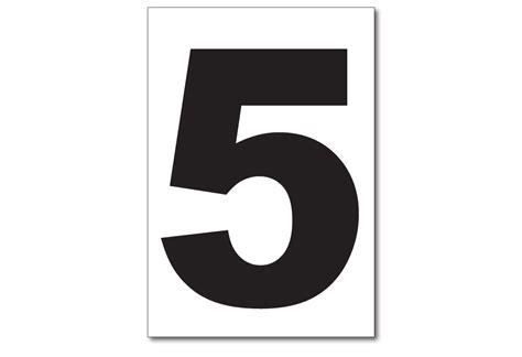 White Vinyl Number Stickers
