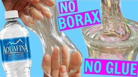 video water slime    clear slime  glue  borax glueless slime