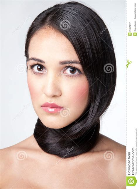 lady neck hair wrapped around a neck hair stock image image of lady
