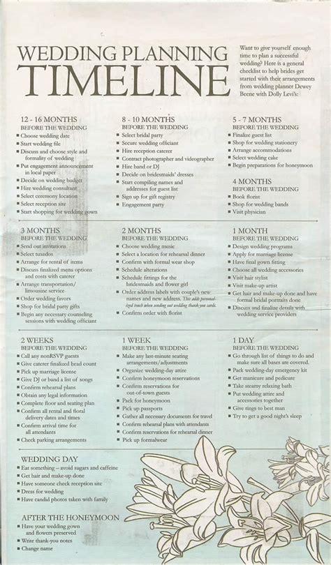 Wedding Planner Timeline by Wedding Prep Juliehanan