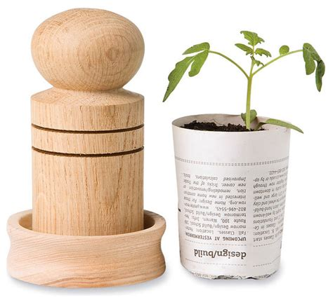 Paper Pots - paper pot maker contemporary outdoor pots and planters