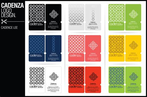 pattern name card name card design