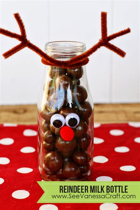 diy craft reindeer milk bottles see vanessa craft