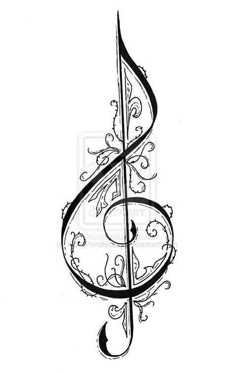 G Drawing Design by Treble Clef By Hollypendlebury Deviantart On