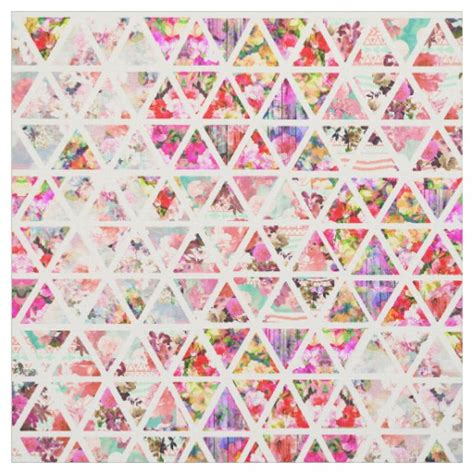 pastel pattern fabric bright abstract floral triangles pastel pattern fabric