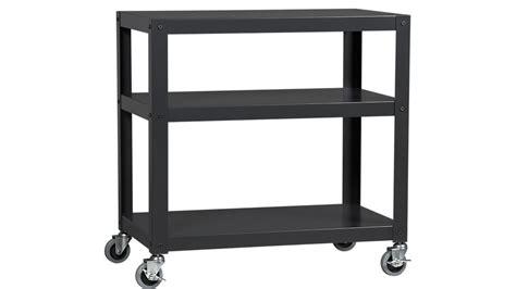 rollen wagen go cart black rolling cart cb2
