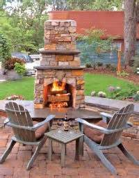 stand alone outdoor fireplace photo courtesy of