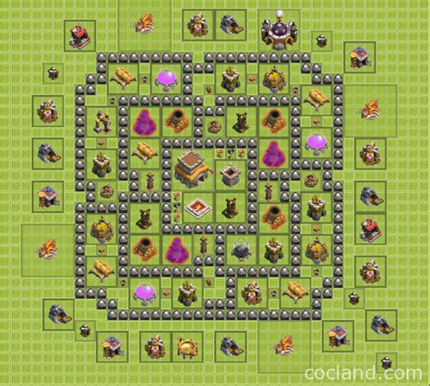 clash of clans town hall 8 war base images clash of clans town hall 8 regular base golden rules