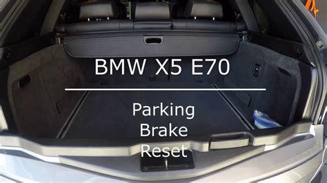 car manuals free online 2013 bmw x5 parking system bmw x5 parking brake reset youtube
