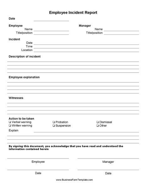 Human Resource Forms And Templates by Best Photos Of Human Resources Incident Report Template