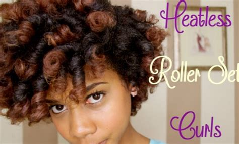 How To Style Hair For Black Without Heat by How To Curl Black Hair Without Heat Best