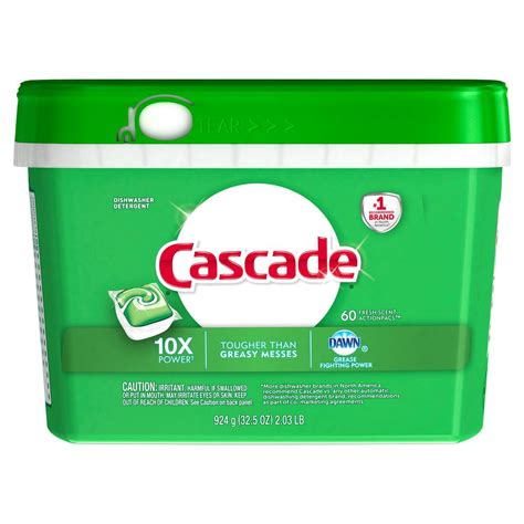 Home Depot Cascade by Cascade Actionpacs Fresh Scent Dishwasher Detergent With
