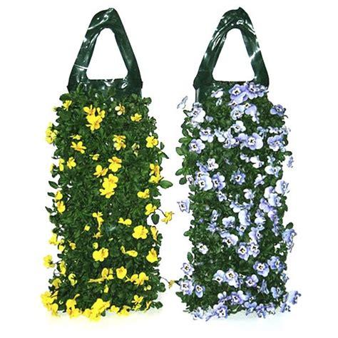 hang planten bloemen buiten bloemenzak kopen zakjes om planten in te planten