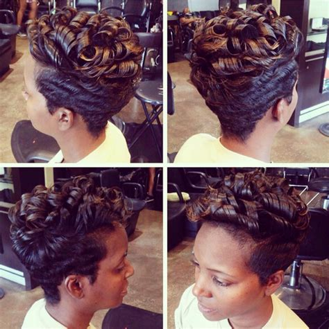 black natural hair short styles jazzy black women short