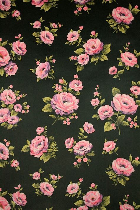 flower pattern on black background black roses floral wallpaper vintage wallpapers