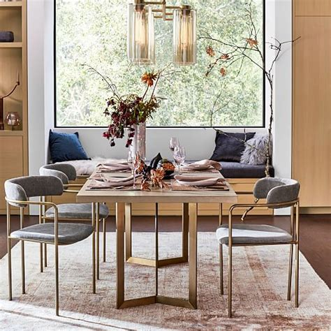 west elm dining room table west elm dining room table tower dining table concrete