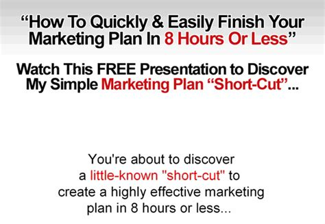 get growthink s ultimate marketing plan template only