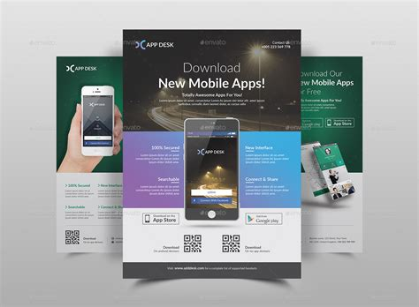 app screenshot template mobile app flyer template by jpixel55 graphicriver