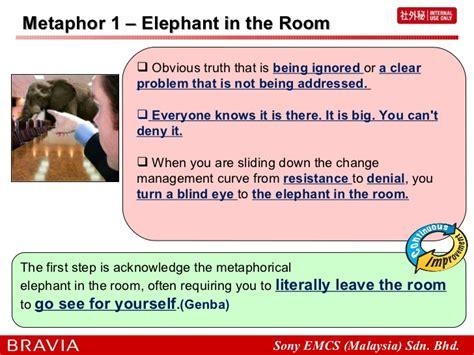 elephant in the room metaphor elephant