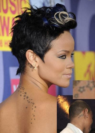 rihanna star tattoo autism puzzle pieces outlines w