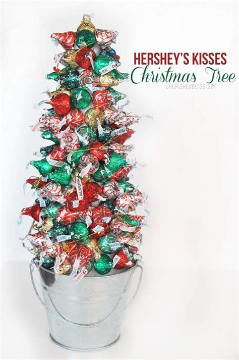 hershey kiss christmas crafts hershey s kisses tree tutorial cherished bliss