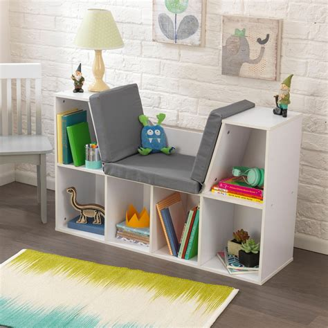 kidkraft bookcase with reading nook bookcase with reading nook white