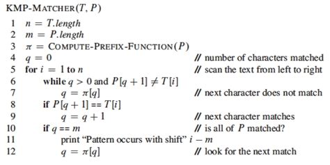knuth morris pratt pattern matching algorithm exle notes on string matching ics 311 spring 2014