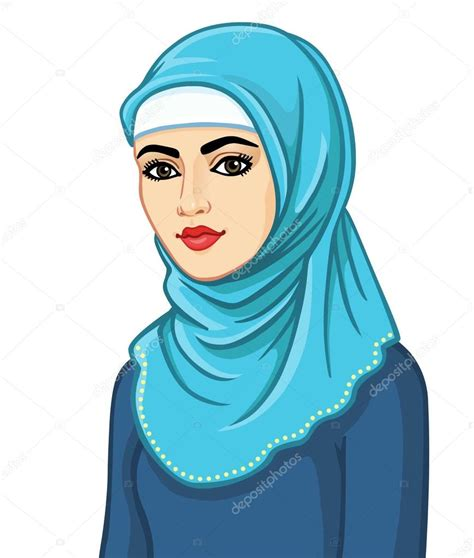 muslim women stock photos and images 7366 muslim women animation portrait of the muslim woman in a hijab