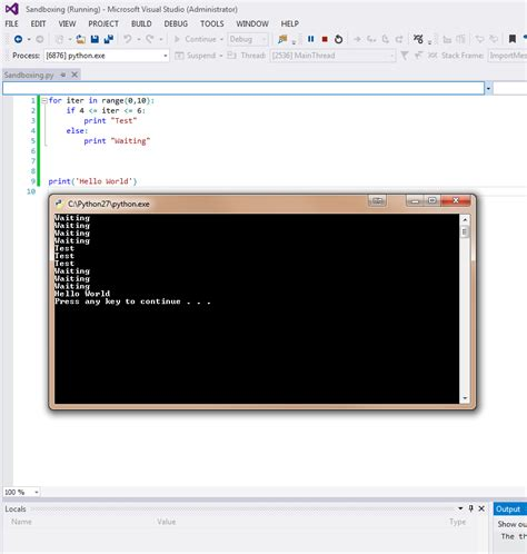 reset visual studio 2013 settings from command prompt debug with internal command window python tools and