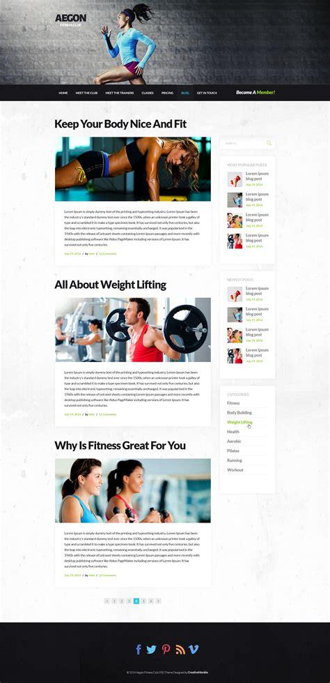 themes blogroll aegon responsive gym fitness club wordpress theme by