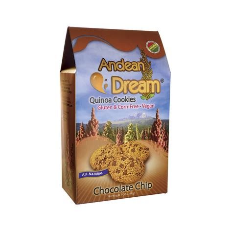 Coco Chip 500 Gr Quinoa Cookies Chocolate Chip 7 Oz 198 Grams Box