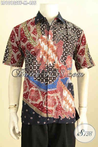 Hem Atasan Baju Wanita model baju batik atasan wanita lengan pendek hem batik premium furing motif klasik tulis