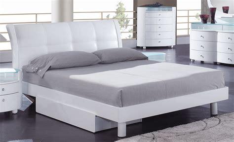 platform bed white global furniture usa evelyn platform bed white evelyn wh