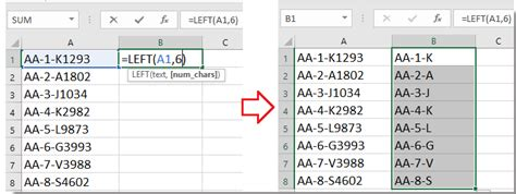 truncate numbertext string  excel