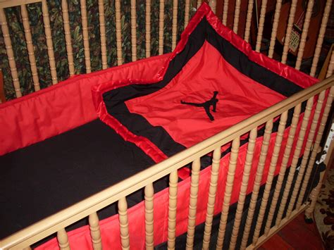 jordan bed set nursery crib bed set jumpman air jordan nike theme boy or