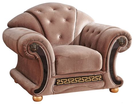 versace chair versace button tufted brown fabric chair with carved gold