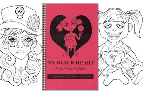 coloring book for goths coloring book coloring pages by