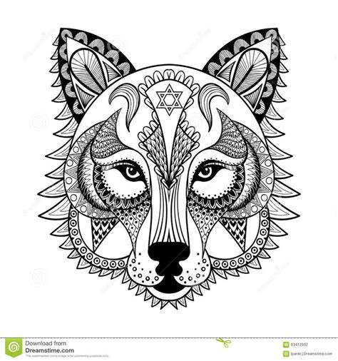 Patterned Animal Coloring Pages by 22 Best Wolf Coloring Pages Images On Coloring