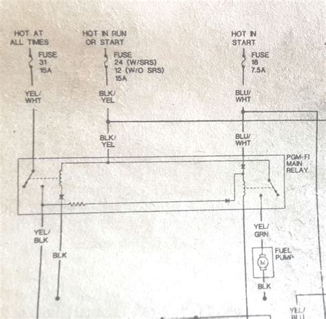 98 honda civic fuel relay wiring diagrams wiring diagram