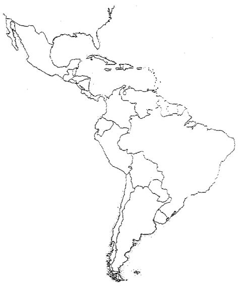blank map of south america hist 251 2004 map quiz study sheet