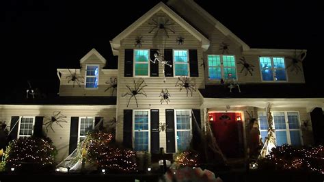 picture photo house with halloween decorations petaluma our haunted halloween house with spiders skeletons