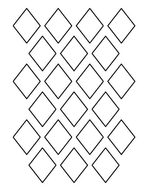 printable 2 inch diamond template