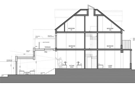extension section architect designed house extension winchmore hill enfield