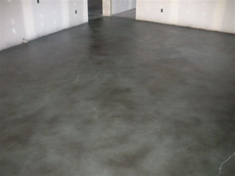 grey stained concrete floor