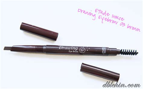 Etude Eyebrow Pencil review introduction to etude house color my brows