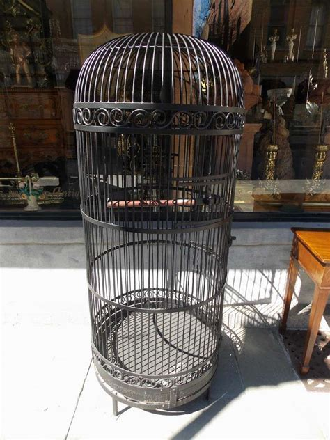 american wrought bird cage with perch circa 1870 at